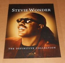 Stevie Wonder The Definitive Collection Poster Original 2002 Promo 24x18