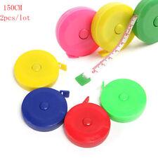 2pcs Cute Retractable 1.5M/60inc Tape Ruler Measure Sewing Cloth Tailor aa