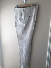 BILLY REID Linen Trousers Size 38 In Oatmeal