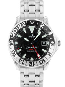Omega 2234.50 Men's Seamaster GMT 300m 50YEARS black dial SS bracelet automatic