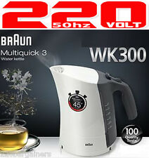 Braun New 220V Cordless Electric Kettle 220 Volt European Voltage Power EU Plug