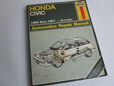 Honda Civic 1984 thru 1991 all models Haynes Repair Manuals ..