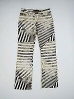 Women's Vintage Just Cavalli Striped Pattern Flared Jeans Size 29 43