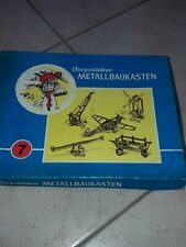 Burgstädter Metallbaukasten , Nr. 7 Spielzeug Metallbaukasten DDR GDR OVP Retro