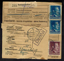 1943 Germany Auschwitz Concentration Camp Parcel Cover Forwarded to Flossenburg