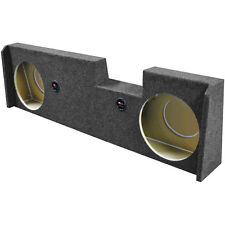 """Qpower BQGMC1220144DOOR Dual 12"""" Woofer Box For 2014 GM Crew Cab Under Seat"""