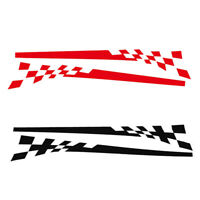 Pair Car Vinyl Graphics Sticker Racing Stripes Decals Red & Black DIY Stickers