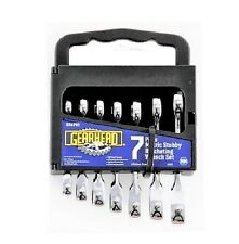 GEARHEAD Stubby Wrench Ratcheting Combination 7 pc Set Metric Chrome TWN GH4763