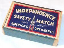 Boite d'allumettes pleine INDEPENDENCE US WW2 USA américain