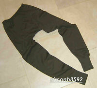 UK BRITISH ARMY SURPLUS ISSUE SYNTHETIC GREEN THERMAL BASE LAYER G1 LONG, JOHN