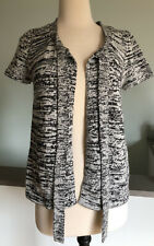 Nwot Jacob Short Sleeved Open Front Tie Front Knit Cardigan Size M