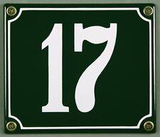 """SMALTO VERDE numero civico"""" 17"""" 14x12 cm Casa Targa immediatamente disponibile SCUDO"""