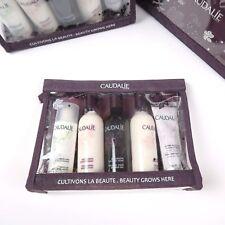 Caudalie 5 Piece Body Skin Care Set Lotion Micellar Shower Gel Gift Pouch Fleur