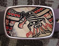 Haida Bird Vintage Inspired Art Gift Birds Belt Buckle