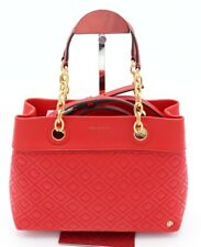 NWT Tory Burch Fleming Red Leather Small Tote Satchel Shoulder Bag 46164 $498