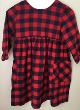 Girls Hanna Andersson Buffalo Check Flannel Dress Size 10