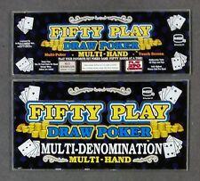 "IGT 17"" Game King Slot Machine FIFTY PLAY DRAW POKER Black Chop Top Glass Set"