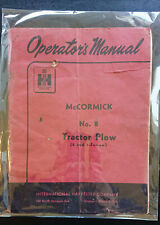 McCormick No. 8 Tractor Plow 2 and 3-Furrow Operator's Manual Original