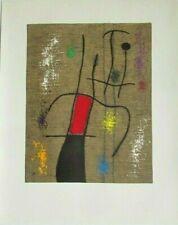 "RARE JOAN MIRO 1960's LIMITED LITHOGRAPH  ""FEMME ET OISEAU "" V/X  PLATE # 18"