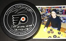 Scott Laughton Flyers Autographed Signed Official Puck 1st NHL Goal 12-13-14 A