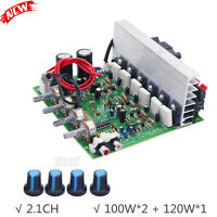 3CH Subwoofer Amplifier Board 2.1 Amplifier Board 100W*2+120W*1 Fan Cooling