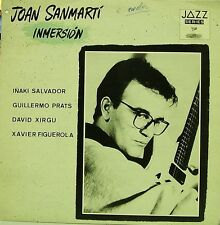 JOAN SANMARTI-INMERSIÓN LP VINYL 1988 SPAIN GOOD COVER CONDITION-EXCELLENT