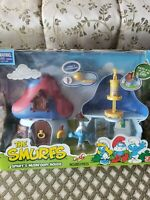2008 Smurf's Mushroom House New In Box 9 Pieces
