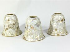 Mosiac Glass Tile Lamp Chandelier Suspension Light Shades Pearl Beige Tan Lot 3