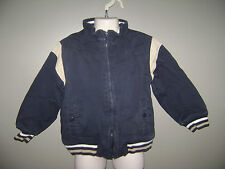 GYMBOREE BOYS JACKET COAT size XS 3-4 BLUE TAN