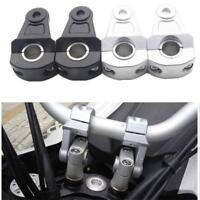 1 para Aluminium 22mm Griff Fat Bar Motorrad Lenkerhalter Clamp Riser
