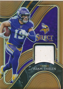 2020 Select Select Swatches Prizm Copper #37 Adam Thielen Jersey /49