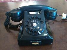 Telefono Vintage FATME Siemens in bachelite nero ORIGINALE