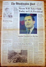 1969 Washington Post newspaper RICHARD NIXON INAUGURATION 1st term US PRESIDENT