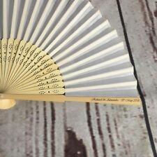 100 Personalised Wedding Favours, Wedding Favour Fans, Personalised Fans,