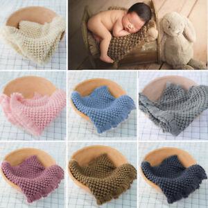 Newborn Studio Photography Prop Baby Kids Backdrop Blanket Background Knit Mat