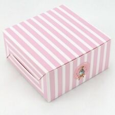 5 x Pink White Striped Bakery Box Cake Bear Birthday Cupcake Dessert Muffin 5""