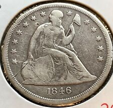 1846 O Seated Liberty Dollar One Dollar $1 Rare Type Coin Better Grade  #12046
