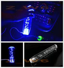 "11.8"" Inch Universal Crystal Bubble Blue LED Light Manual Shift knob Shifter"