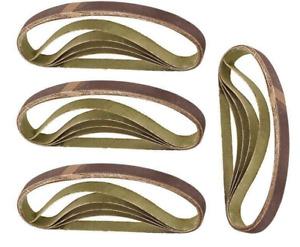20 Pcs 13mm x 457mm Fine 240 Grit Abrasive Alu Oxide Powerfile Sander Belts