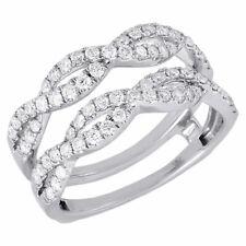 14K White Gold Diamond Solitaire Engagement Ring Infinity Enhancer  0.75 Ct.
