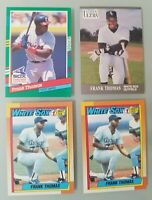 Lot of 4 Frank Thomas Baseball Cards (Topps Rookie 2nd Yr Donruss Fleer 1990