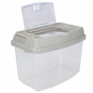 1.4L Plastic Pet Keeper Mini Insects, Fish, Aquatics Holder 11.5x13.5x18cm