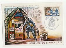 journée du timbre 1971 timbre France 1er jour FDC carte maximum /T2605