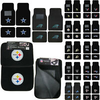 New 4pcs NFL Pick Your Team Car Truck Front Rear Back Carpet Floor Mats Set