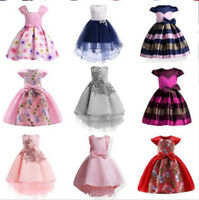 Flower Girl Princess Dress Baby Kids Party Wedding Bridesmaid Formal Tutu Gown