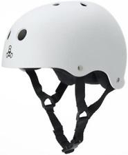 Triple Eight Sweatsaver Liner Skateboarding Helmet, White Rubber, Xx-Large