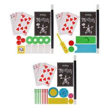 MAGIC TRICKS SET ILLUSIONS WAND PLAYING CARDS MAGICIANS SET