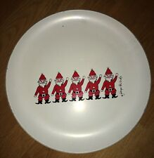 "60's Retro Georges Briard Designs Santas Christmas 14"" Platter Large Plate"