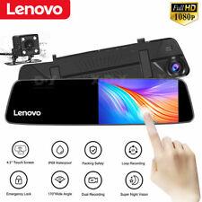 Lenovo 4.5'' Dual Lens Vehicle Rearview Mirror Camera Recorder Car DVR Dash Cam