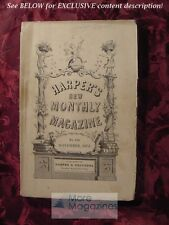 HARPER's November 1872 The DANUBE JACOB ABBOTT GENEVA +